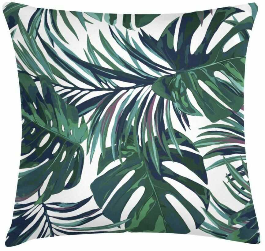 Poduszka w liście Monstera zielona 45 x 45 cm
