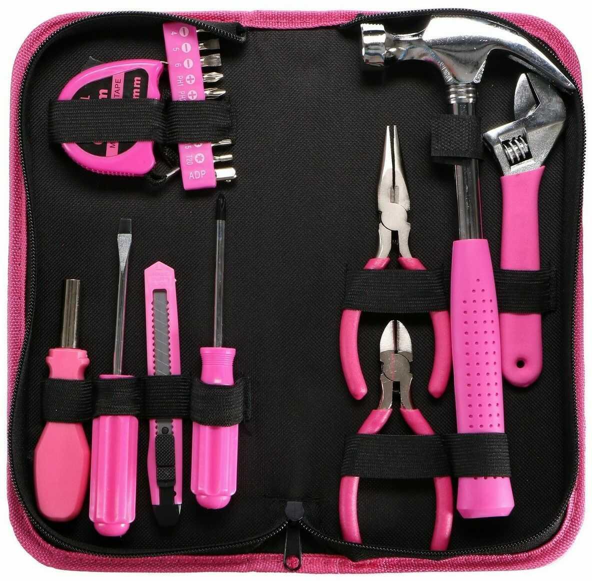 Sixtol Zestaw narzędzi Home Pink, 20 szt.