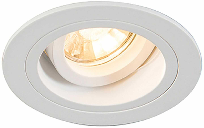 Chuck dl round oprawa podtynkowa regulowana biała H-92699 - Zuma Line Do -17% rabatu w koszyku i darmowa dostawa od 299zł !