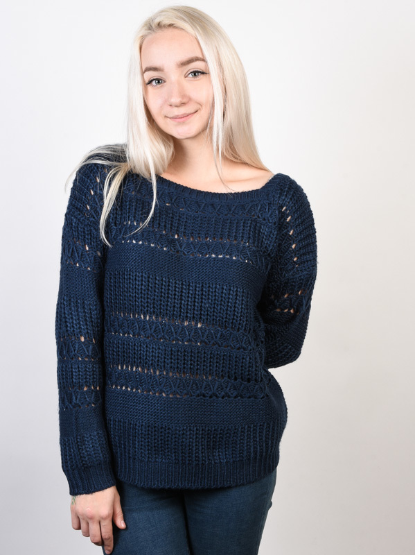 Roxy DREAM BELIEVER DRESS BLUES damski sweter projektant - L