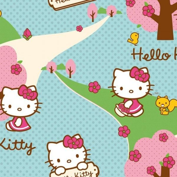 Tapeta hello kitty woodland