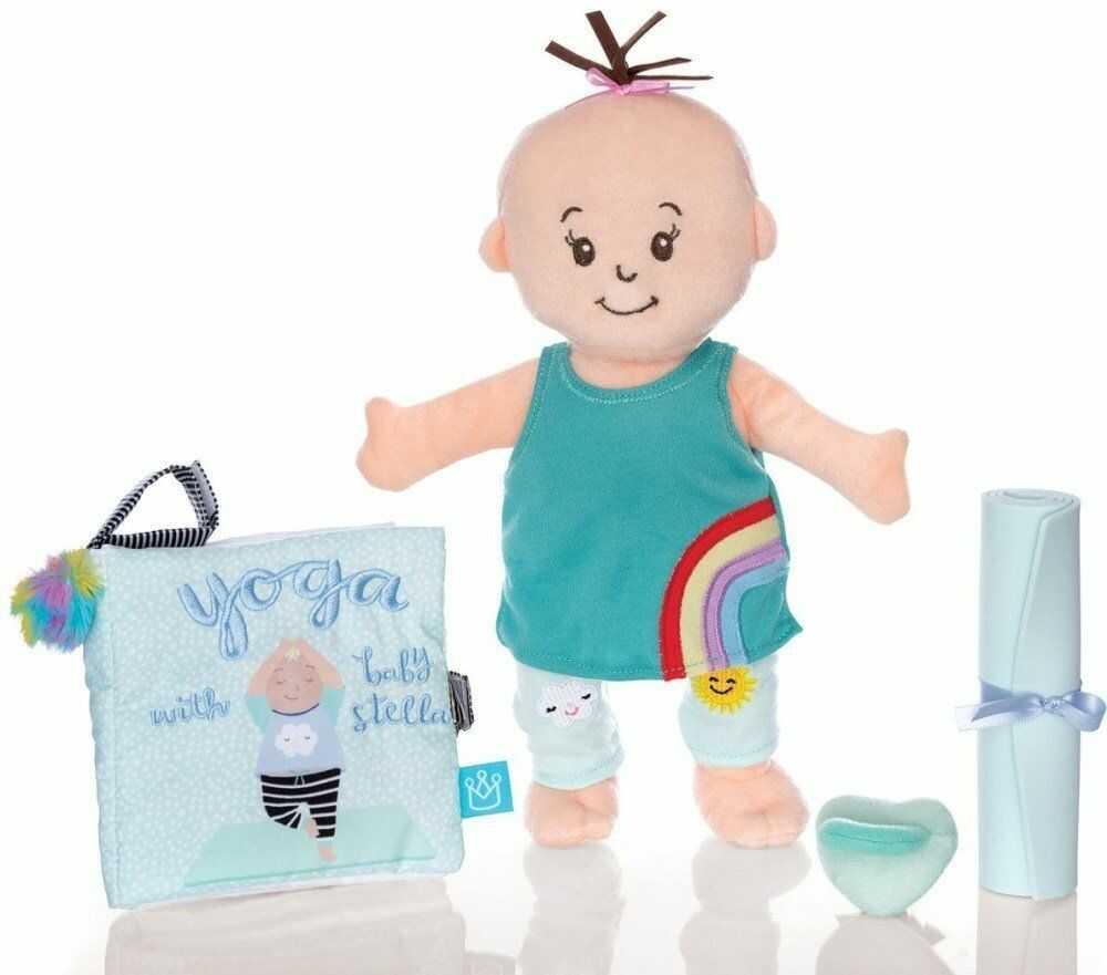 Pluszowa lalka dla dzieci Joga Baby Stella 158400-Manhattan Toy, lalki szmaciane