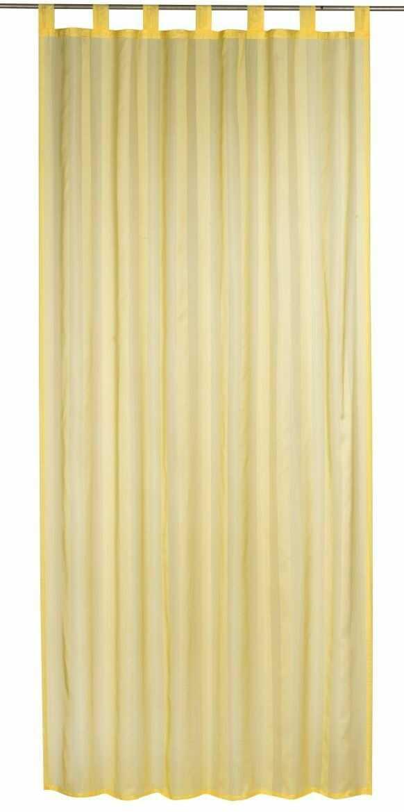 Elbersdrucke woal w paski 02 Gotowa dekoracja, poliester, żółty, 245 x 140 cm