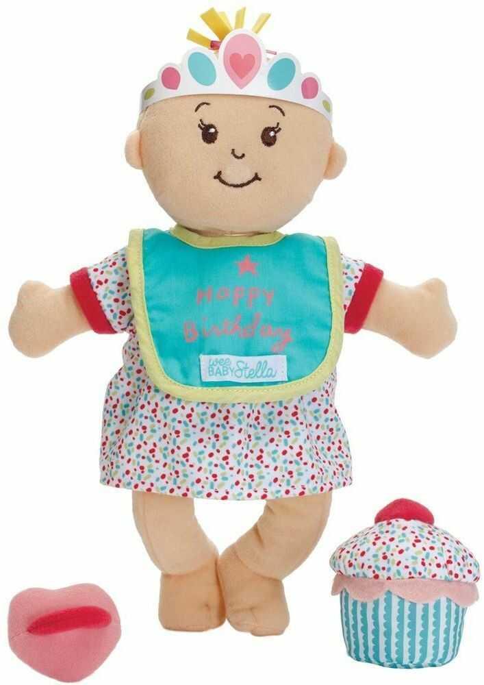 Pachnąca pluszowa lalka Baby Stella Urodziny, 152930-Manhattan Toy, lalki szmaciane