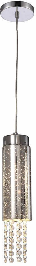 Milagro MOONLIGHT ML4363 lampa wisząca chrom klosz metalowy szklany kryształki 1xE14 10cm