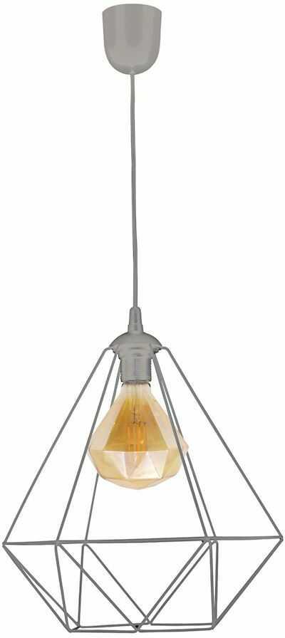 Milagro ALAMBRE GREY MLP4132 lampa wisząca żarówka w zestawie klosz koszyk szary metal 2700K 1xE27 4W 35cm