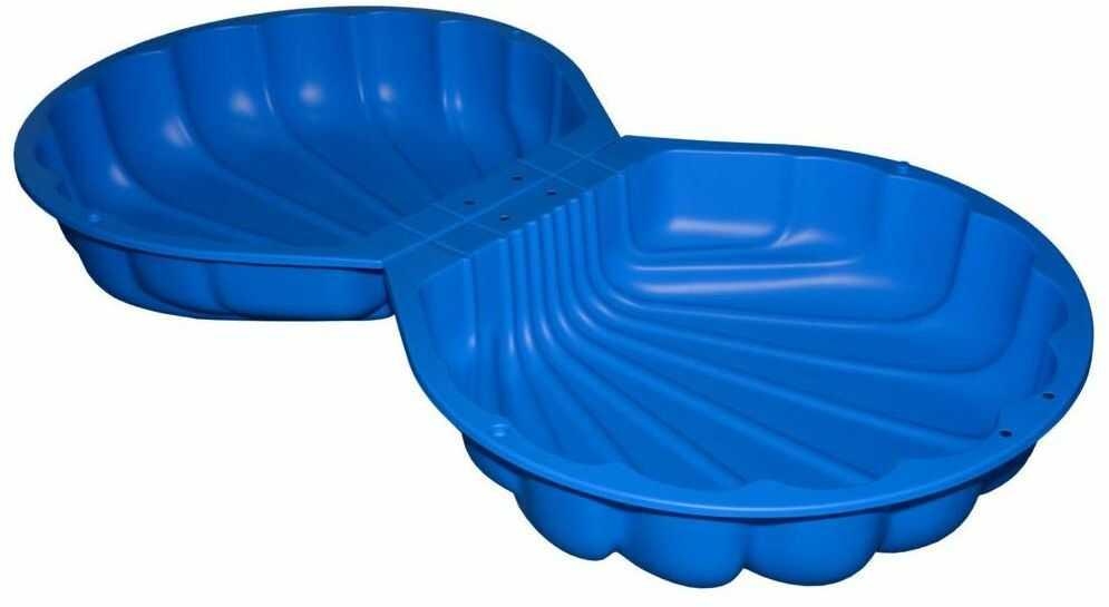 Piaskownica plastikowa z pokrywą 176 x 88 x 21 cm SMOBY MUSZELKA niebieska