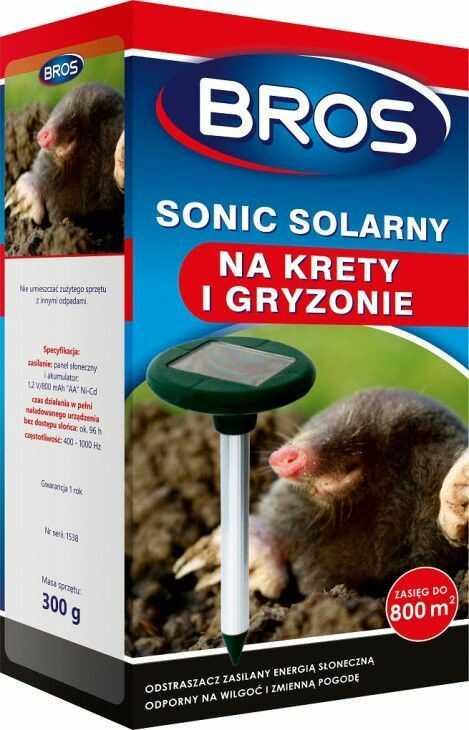 Bros Sonic Solarny na krety i gryzonie