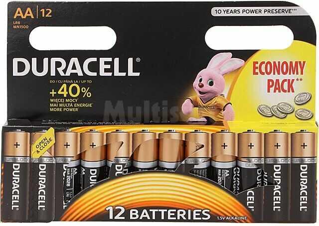 Bateria alkaliczna 1,5V AA DURACELL 12szt.