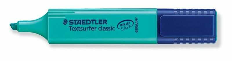 Zakreślacz Textsurfer Classic Staedtler 304693 314517, Kolor: Turkusowy
