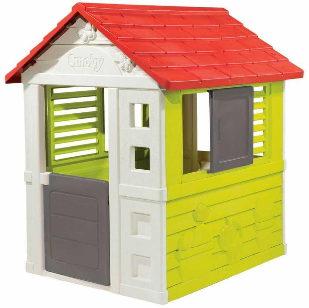 Domek dla dzieci SMOBY NATURE 98 x 111 x 127 cm plastikowy ogrodowy