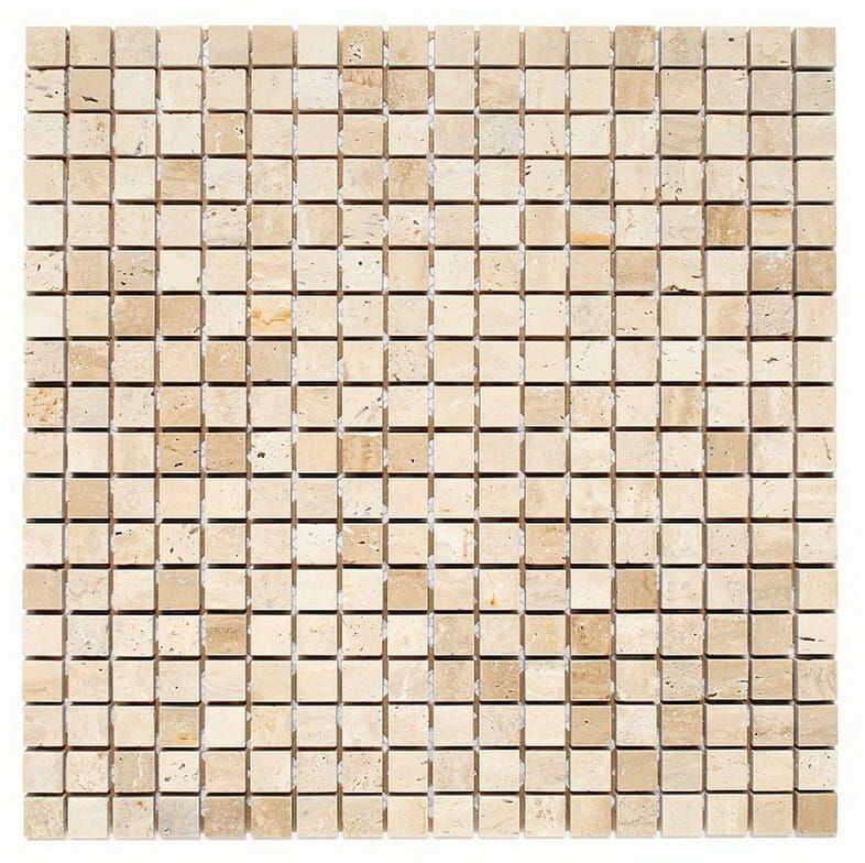DUNIN Travertine mozaika kamienna Travertine White 15