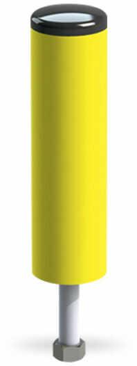 Słupek ochronny z PVC ze stalowym rdzeniem (wysokość 433 mm)