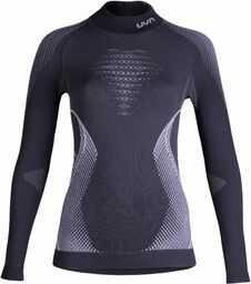 UYN Evolutyon UW koszulka damska z długim rękawem w stylu Turtle Neck, Charcoal/White/Light Grey, S/M