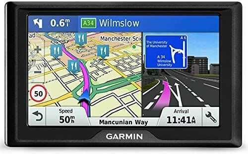 Garmin System nawigacji Drive 51 LMT-S (pojedyncze kraje), 5 cali, czarny (odnowiony)