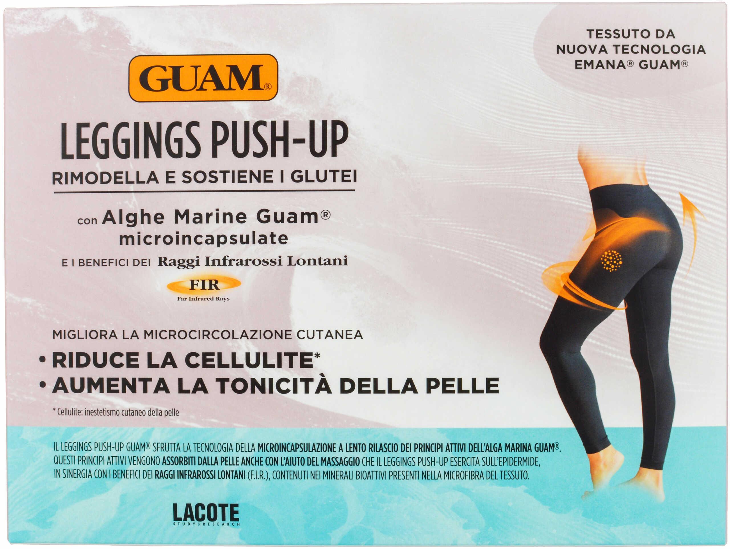 GUAM FIR IL Leginsy Push-up wyszczuplające i antycellulitowe z efektem Push-up rozmiar L-XL