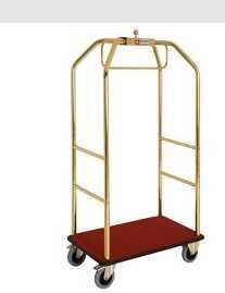 Wózek hotelowy złoty z hamulcami 986x590xh1890 45 kg