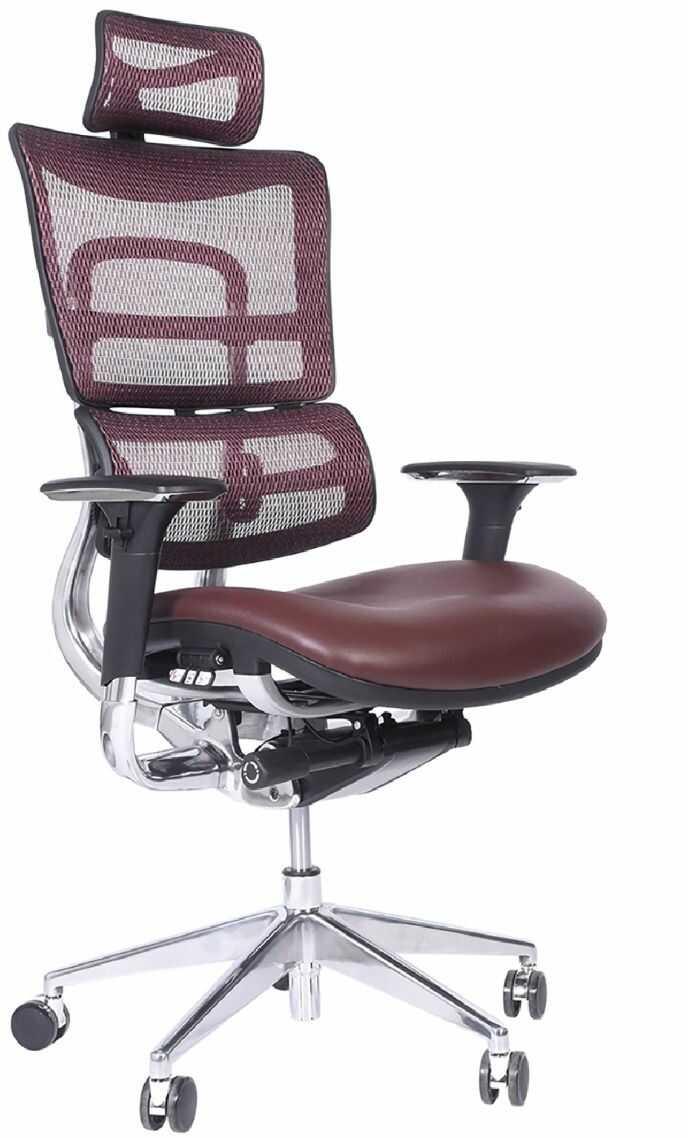 Ergonomiczny fotel biurowy ERGO 800 śliwkowy