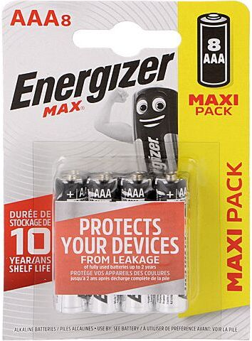 Bateria alkaliczna 1,5V AAA ENERGIZER MAX 8szt.