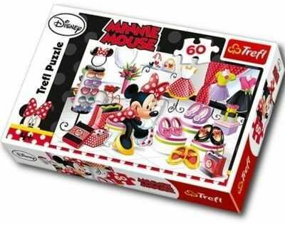 Puzzle 60 Elementów Myszka Minnie i Zakupowe Szaleństwa Trefl