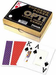 Karty do gry Piatnik 2 talie Supreme Poker Opti ZAKŁADKA DO KSIĄŻEK GRATIS DO KAŻDEGO ZAMÓWIENIA