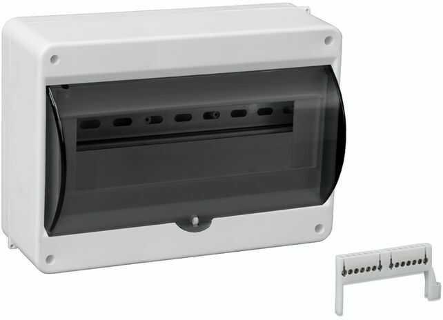 Rozdzielnica modułowa 1x12 natynkowa z szybkąą dymna N+PE IP30 S-12 C.2073