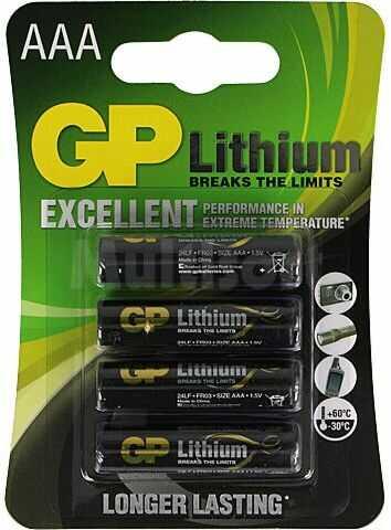 Bateria litowa 1,5V AAA GP 4szt.