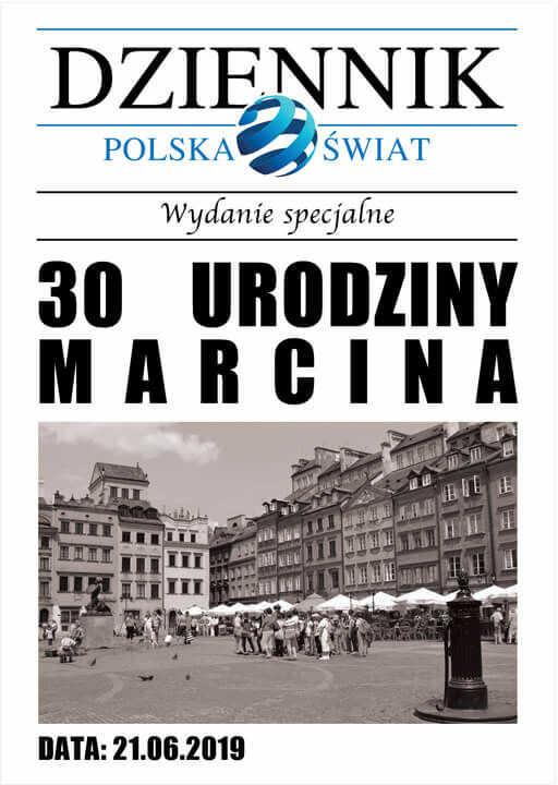 Zaproszenia personalizowane Gazeta na urodziny - 8 szt.