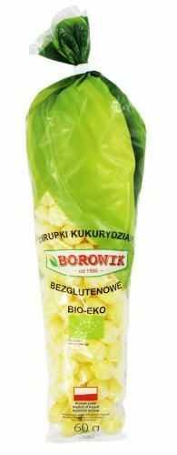 Chrupki kukurydziane (kolba) bezglutenowe BIO 60g - Borowik
