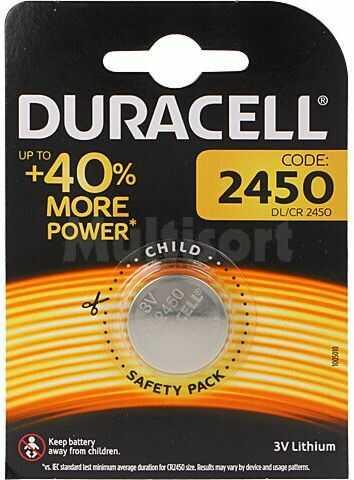 Bateria litowa 3V CR2450 DURACELL fi24x5mm