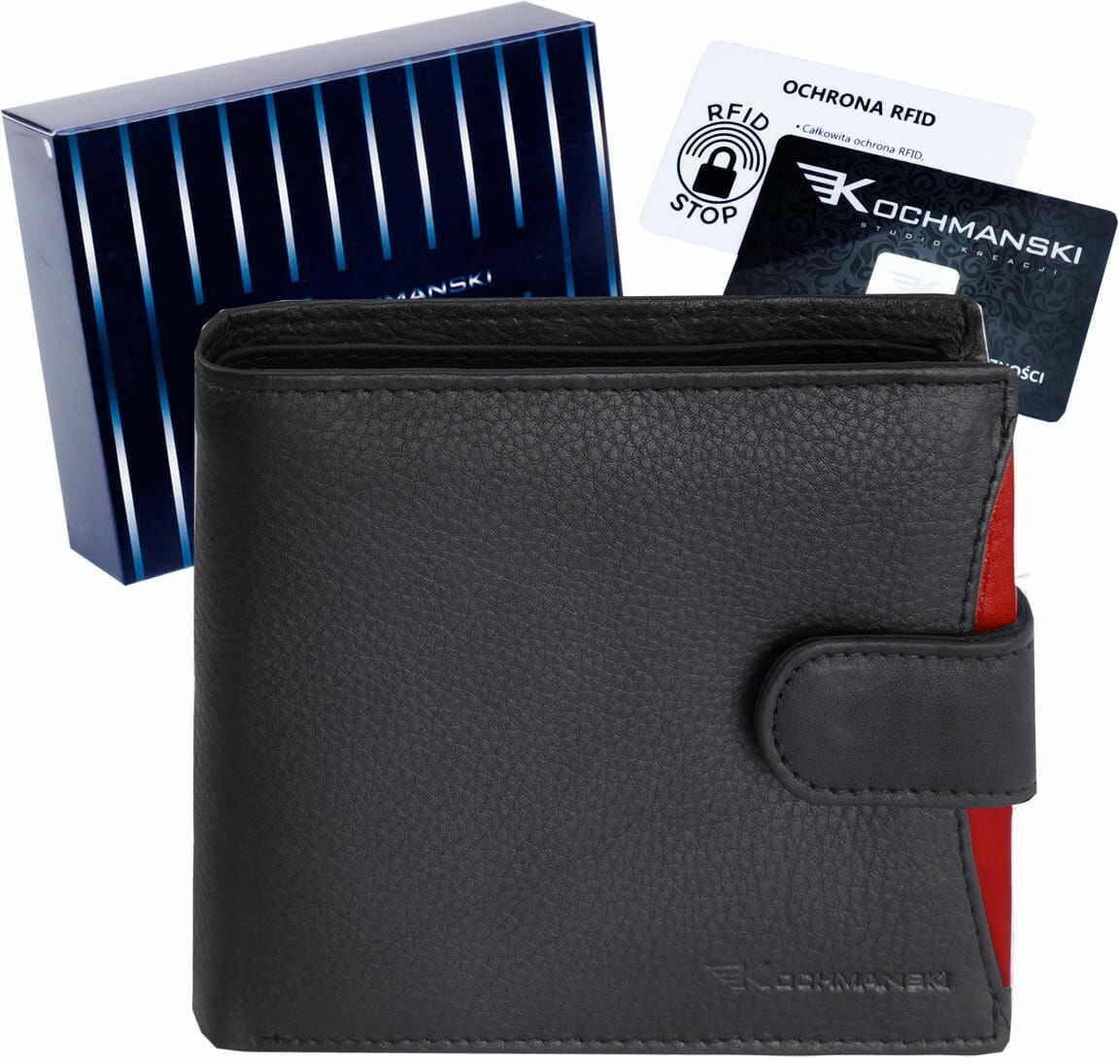 KOCHMANSKI skórzany portfel męski RFID 3254