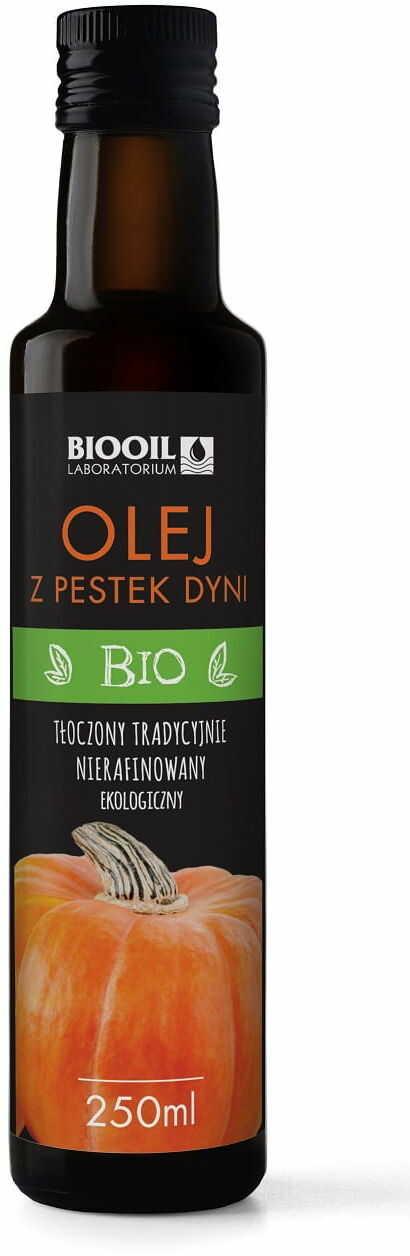 Olej z pestek dyni nierafinowany bio 250 ml - biooil