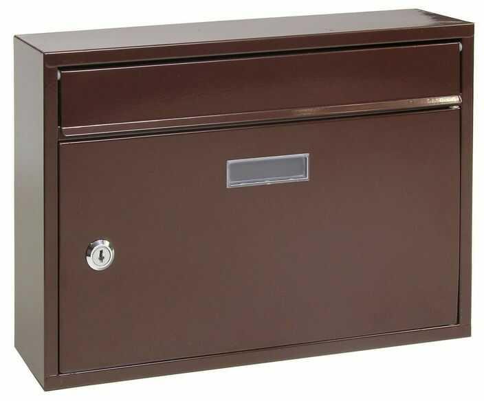 Richter Stalowa skrzynka pocztowa Terni, brązowy