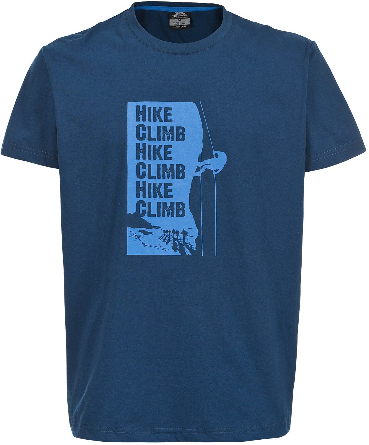 Trespass Tramore męska koszulka z krótkim rękawem na zewnątrz dostępna w kolorze ciemnoniebieskim średniej wielkości