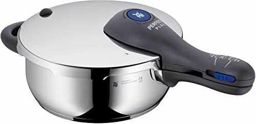 WMF Perfect Plus szybkowar indukcyjny 3 l, szybkowar parowy, polerowana stal nierdzewna Cromargan, 2 stopnie gotowania, regulator poziomu gotowania jedną ręką