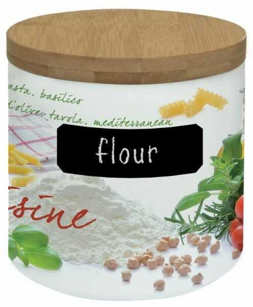 PORCELANOWY POJEMNIK NA MĄKĘ 0,5 kg - Flour Mediterraneo (751 CUIS)