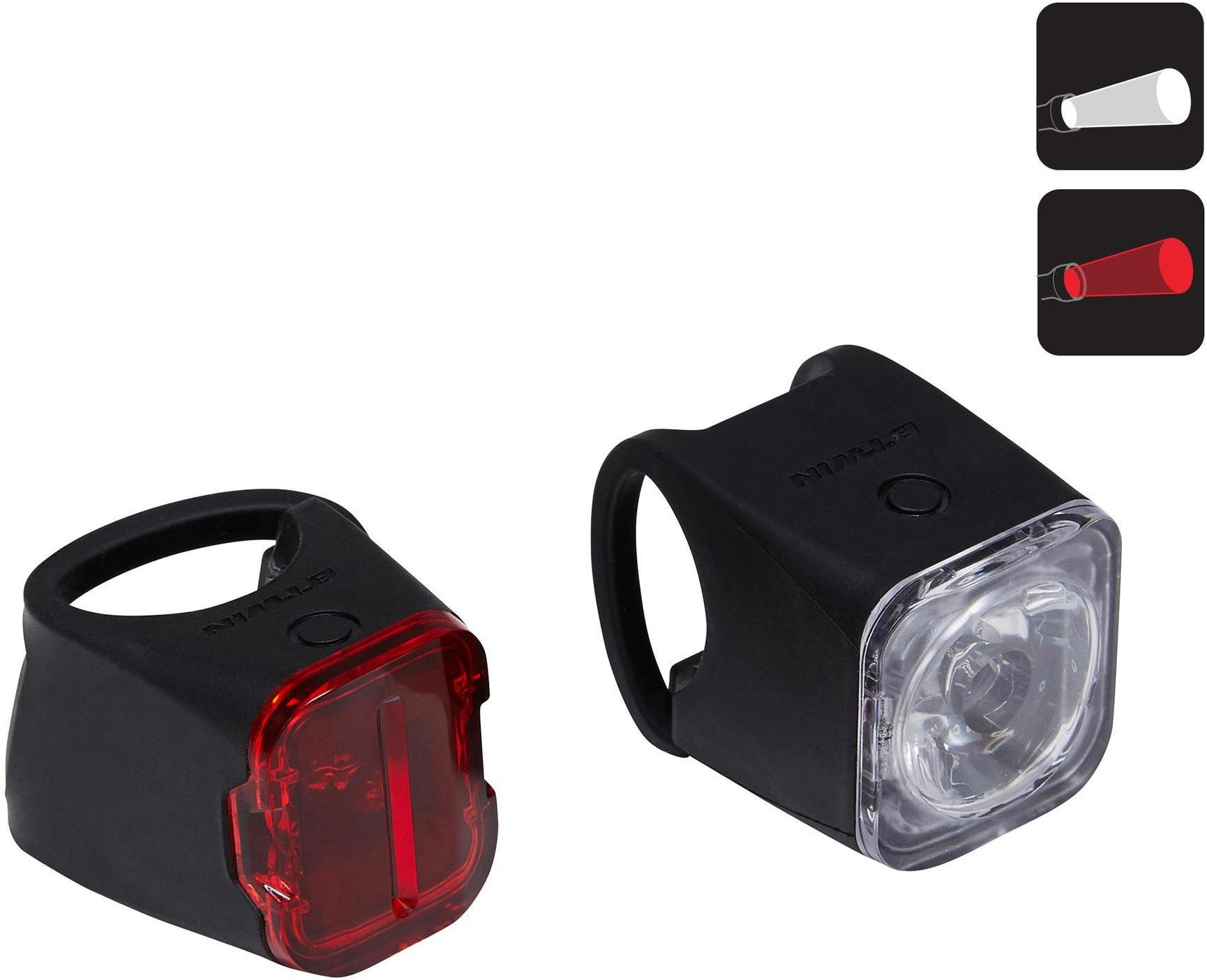 Zestaw lampek rowerowych ST 540 USB przednia i tylna