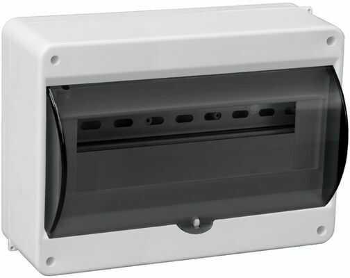 Rozdzielnica modułowa 1x12 natynkowa z szybką dymna IP30 S-12 C.2072