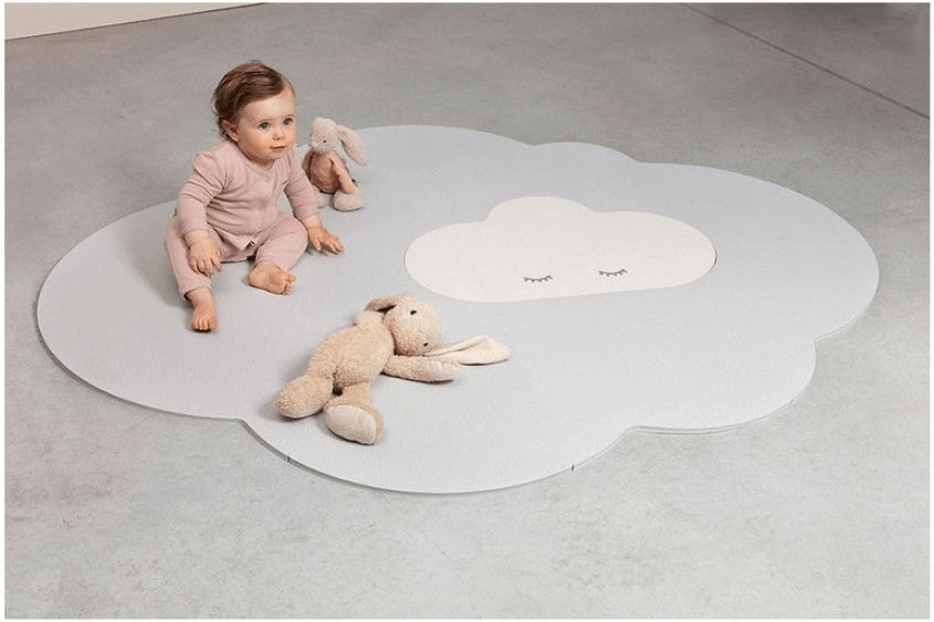 Mata do Zabawy Piankowa podłogowa duża Chmurka Playmat Pearl Gray - Quut