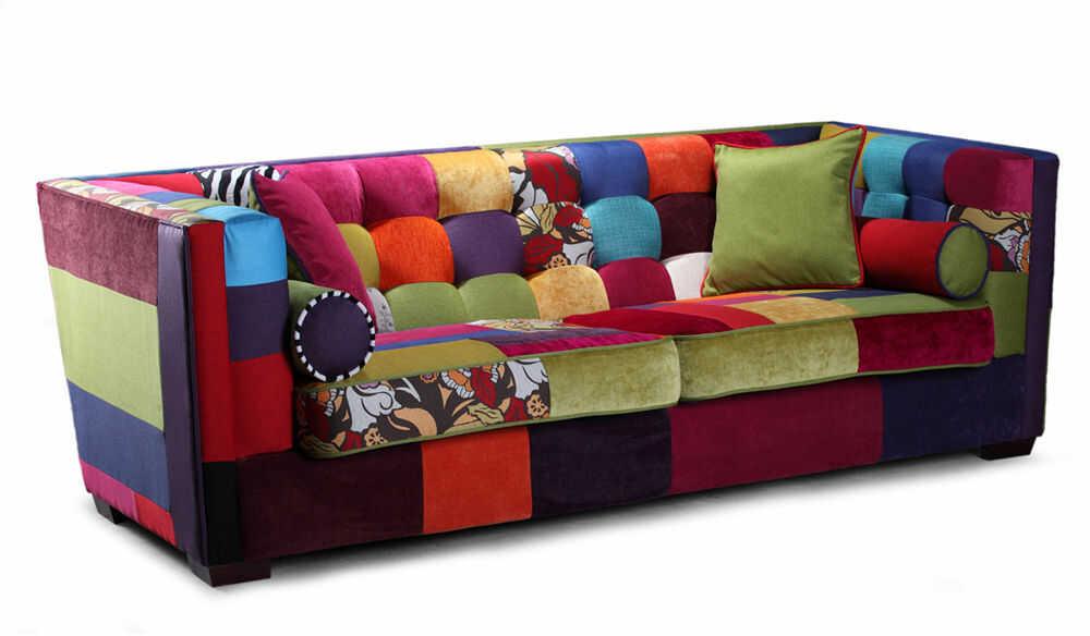 Sofa EsteliasStyle Giulietta 4-os., patchwork