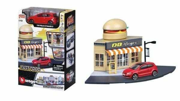 Street Fire Bburago City Fast Food 1:43 BBURAGO - BBurago