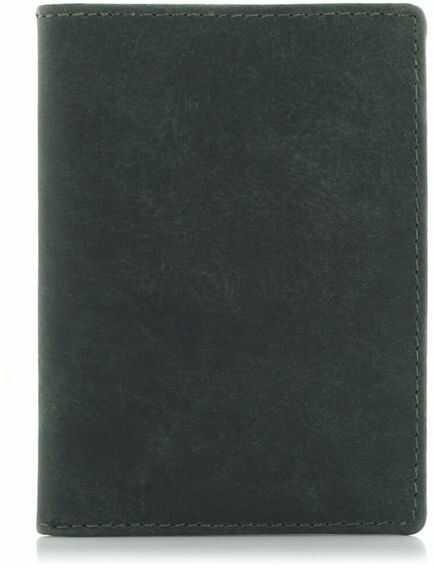 Cienki portfel męski na karty zielony ZC02