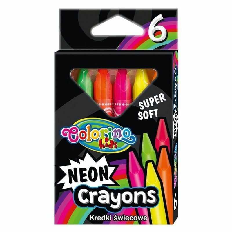 Kredki świecowe trójkątne neonowe 6k Colorino nr 2050 892050