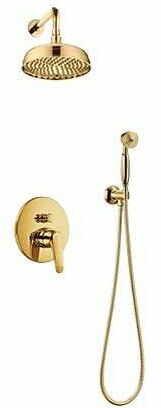OMNIRES System prysznicowy podtynkowy Art Deco złoto SYSAD27GL
