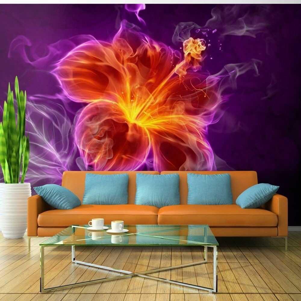 Fototapeta - ognisty kwiat w purpurze