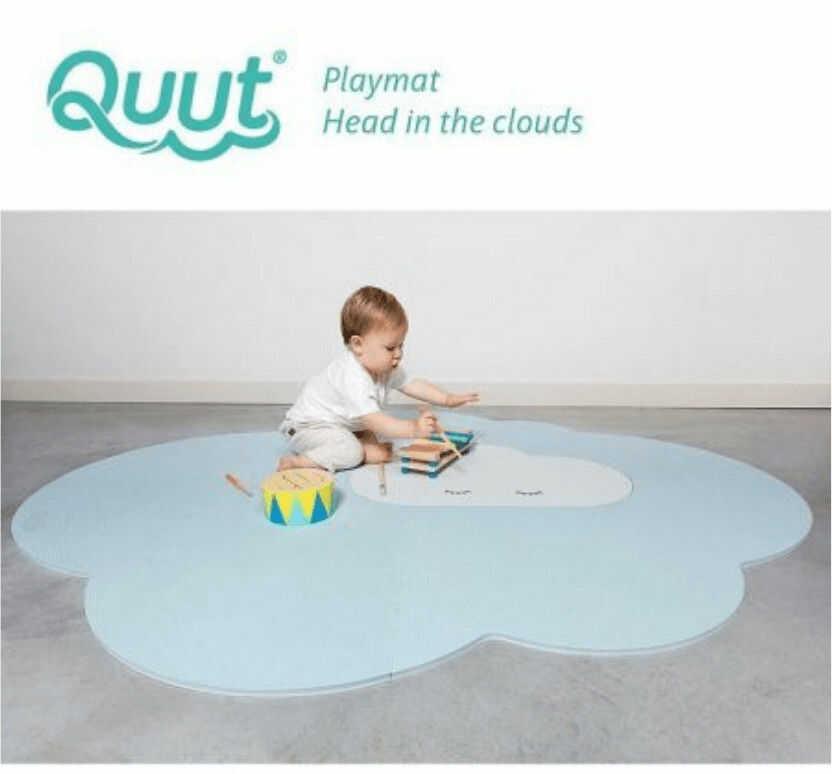 Mata do Zabawy Piankowa podłogowa duża Chmurka Playmat Dusty Blue - Quut