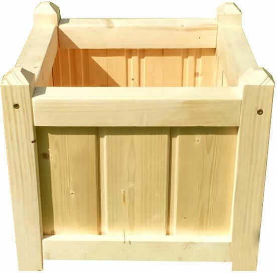 Drewniana kwadratowa donica ogrodowa 15 kolorów - Mundo 2X