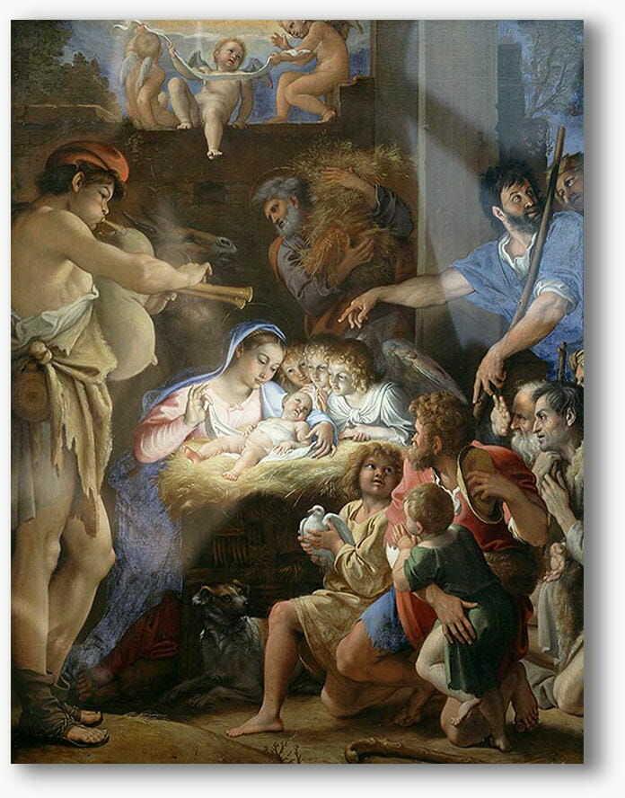 Boże Narodzenie, nowoczesny obraz religijny plexi