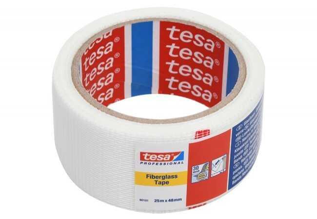 Siatka maskująca do karton-gips Tesa długość 25 m, szerokość 48 mm (60101-00000-00)