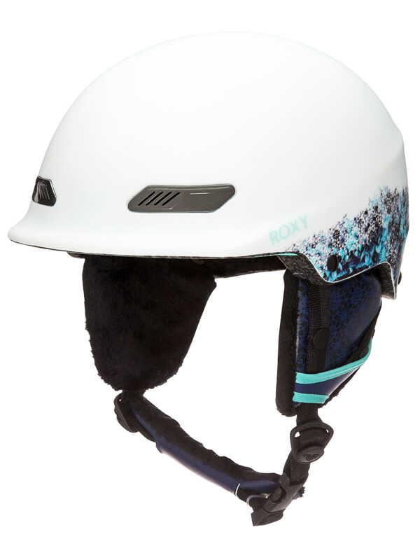 Roxy POWER POWDER ARUBA BLUE_KALEIDOS FLOWERS kask snowboardowy
